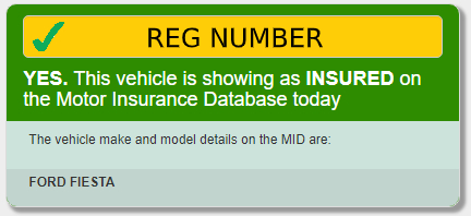 AskMID car insurance check result