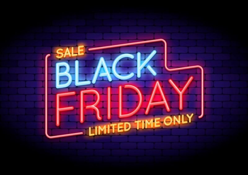 Black Friday luminous sign