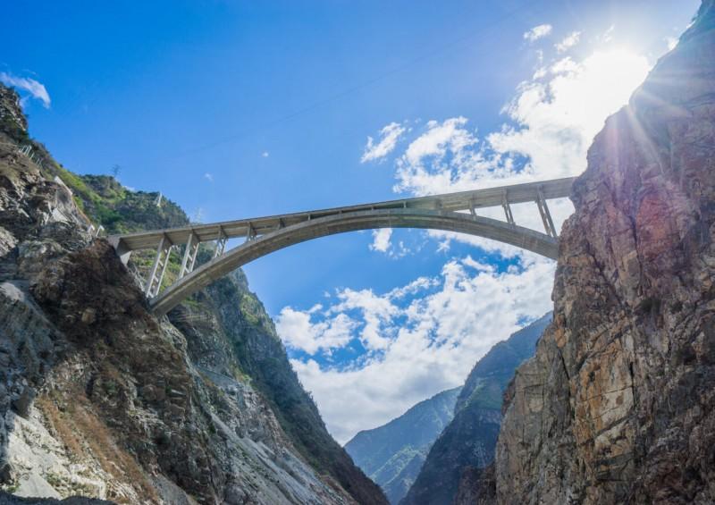 bridge spanning a gap