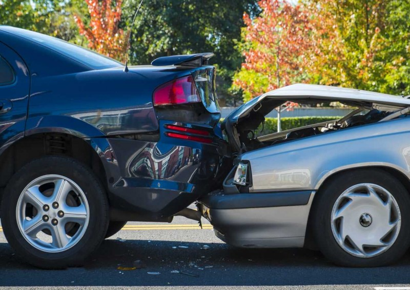 Car accident rear collision
