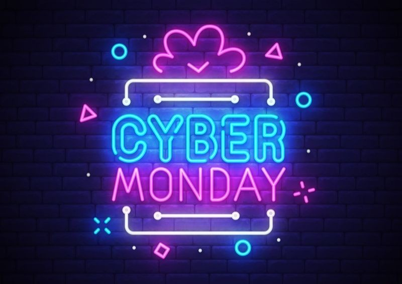 Cyber Monday luminous sign