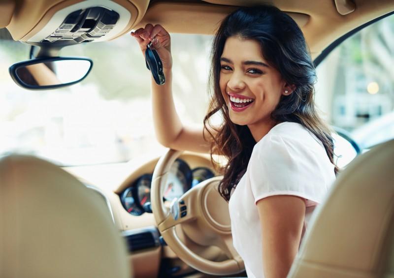 lady with car keys