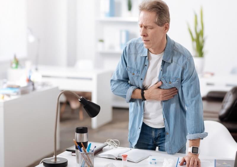 man suffers heart attack critical illness
