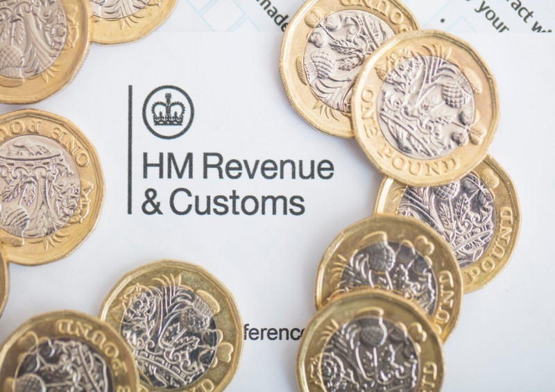 Paper showing HM Revenue and Customs