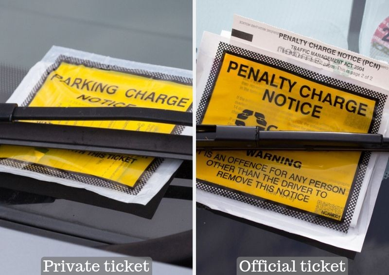 Penalty charge notice and parking charge notice