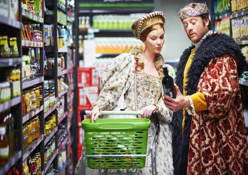 royalty in supermarket