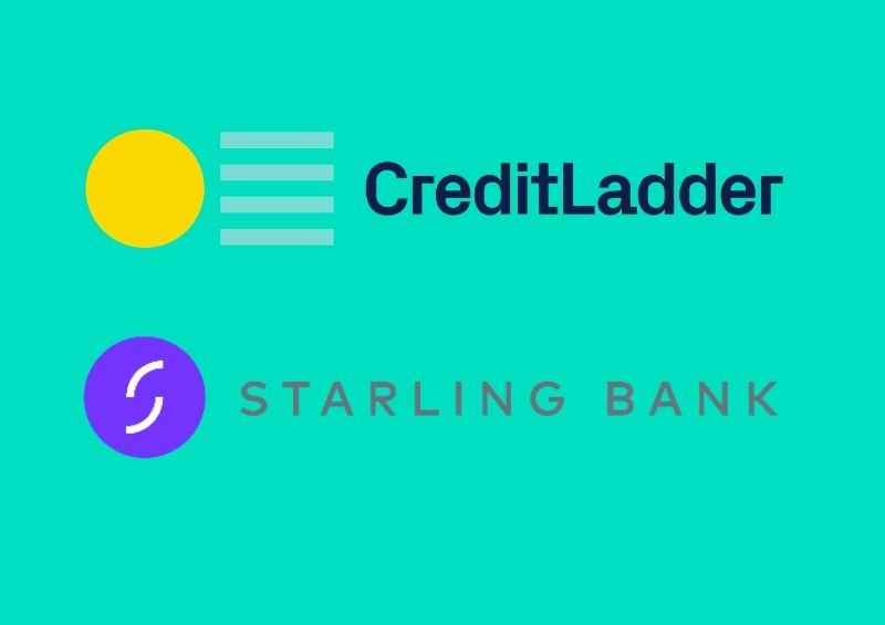 Starling Bank and CreditLadder logos side by side