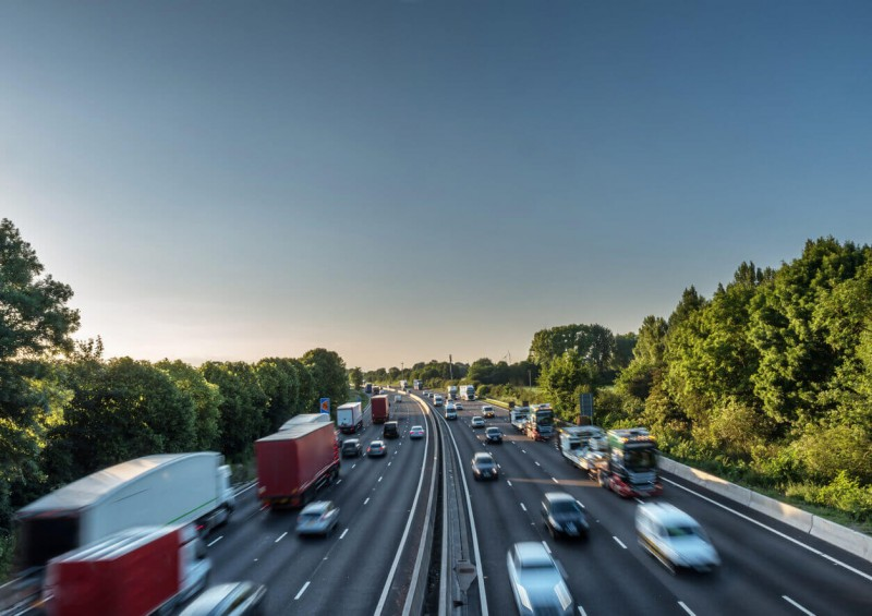UK busy motorway
