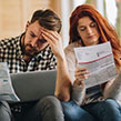 Couple stress over bills