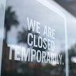 Shop sign closed temporarily coronavirus