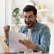 Student happy with a loan refund letter