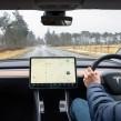 Tesla interior software
