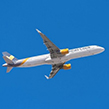 Thomas Cook airplane in the air